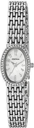 Swarovski Armitron Women's 75/5360MPSV Crystal Accented -Tone Bracelet Watch