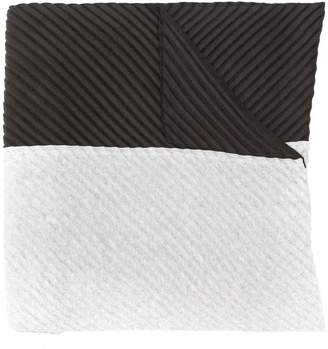 Issey Miyake Homme Plissé two tone pleated scarf
