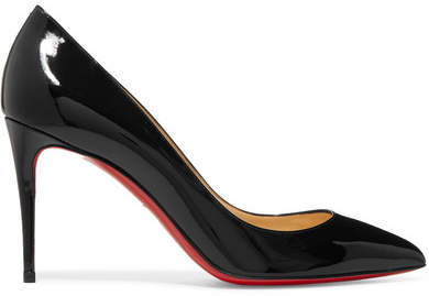 Christian Louboutin - Pigalle Follies 85 Patent-leather Pumps - Black