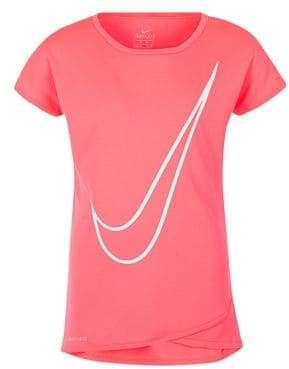 san francisco 49eb7 d73f4 Nike Little Girl s Crossover Tunic Tee