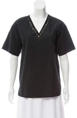 Tomas Maier Embellished Short Sleeve Top