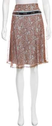 Blumarine Embellished Lace Skirt