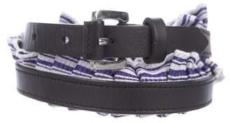 Missoni Ruffle Leather Belt