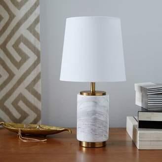 west elm Small Pillar Table Lamp - Marble