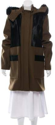 Zac Posen Fur-Accented Aster Coat w/ Tags