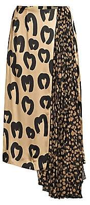 Mother of Pearl Women's Marita Asymmetric Pleated Midi Skirt