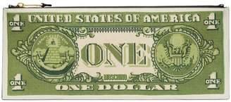 Moschino Dollar Bill clutch bag