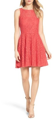 Women's Bb Dakota Paloma Lace Fit & Flare Dress $88 thestylecure.com
