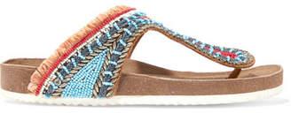 Sam Edelman Olivie Embellished Leather Sandals - Blue
