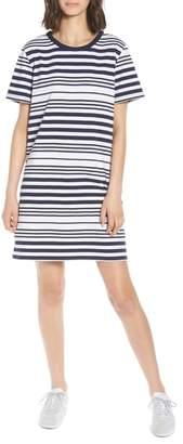 BP Stripe Twist Back T-Shirt Dress