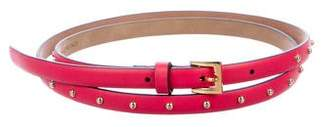 Valentino Studded Leather Belt w/ Tags