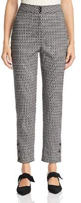 Badgley Mischka Geo-Print Pants