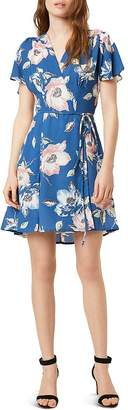 French Connection Cari Floral Mini Wrap Dress