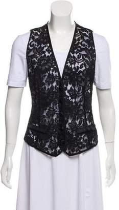 Dolce & Gabbana Lace Accented Vest