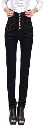 Angcoco Womens Pants Angcoco Womens Fashion Korean High Waisted Skinny Leggings Pants Pencil Jeans