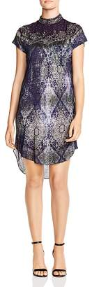 Haute Hippie In the Wild Embellished Tapestry-Print Shirt Dress