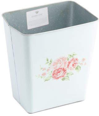 Painted Metal Waste Basket