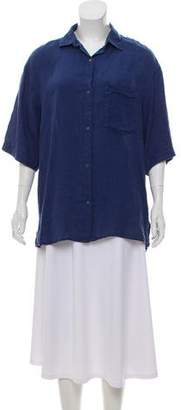 0039 Italy Short Sleeve Button Up Top w/ Tags