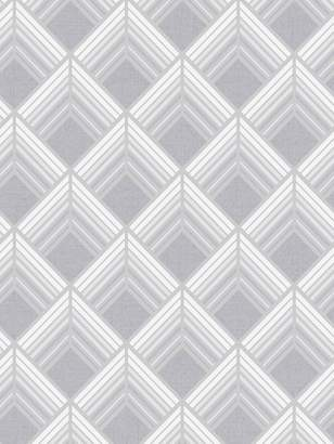 Boutique Trifina Geo Wallpaper – Silver