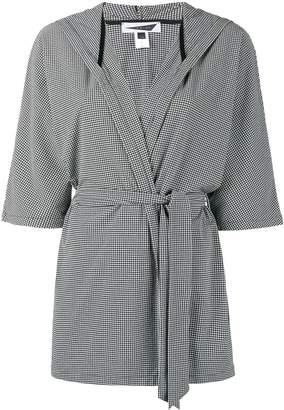 Prism Houndstooth check beach robe