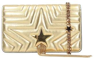 Stella McCartney Star Metallic Gold Faux-leather Shoulder Bag