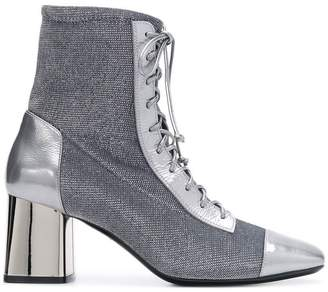Casadei metallic lace-up boots