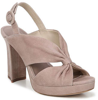 Diane von Furstenberg Heidi Knotted Suede Platform Sandals