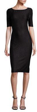 St. John Shimmer Elbow-Sleeve Sequin Dress $1,295 thestylecure.com