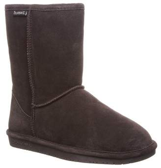 BearPaw Emma Short Suede Genuine Sheepskin Footbed Boot