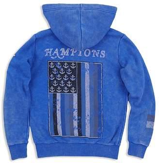 Butter Shoes Boys' Hamptons Mineral-Wash Fleece Hoodie - Big Kid