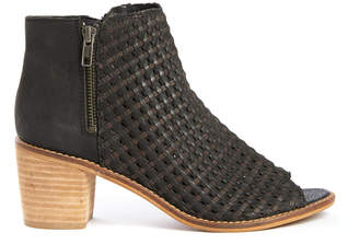 Sbicca Waterfront Peep Toe Woven Bootie