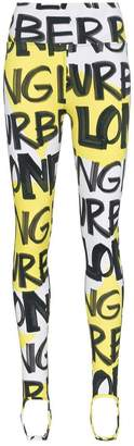 Burberry graffiti logo stirrup leggings