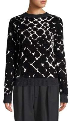 Marc Jacobs Bracelet Sleeve Lurex-Knit Sweater