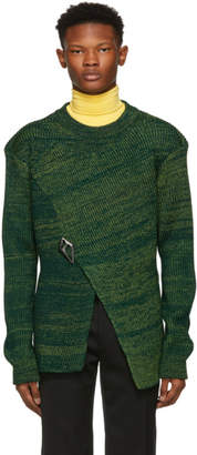 Namacheko Green Three Ply Asymmetric Sweater
