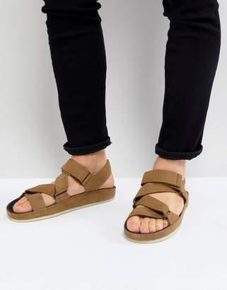 Clarks Ranger Nubuck Sandals In Tan