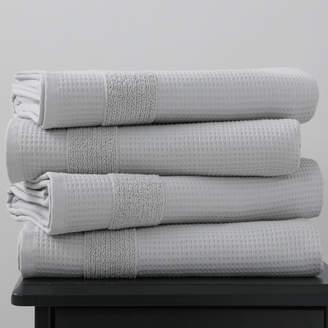 Silver 600GSM Waffle Bath Towel Pack