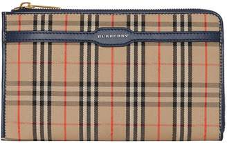 Burberry 1983 Check and Leather Travel Wallet