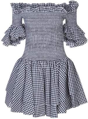 Caroline Constas Kendall Off-Shoulder Gingham Dress