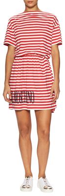 Love MoschinoStriped Flared Dress