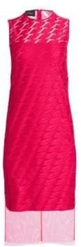 Akris Women's Sleeveless Embroidery Lip Sheath Dress - Pink - Size 8