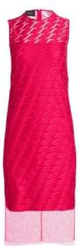 Akris Sleeveless Embroidery Lip Sheath Dress