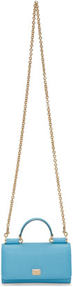 Dolce & Gabbana Blue Small Chain Wallet Bag $845 thestylecure.com