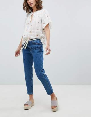 Vanessa Bruno Ath Embroidered Cropped Jeans