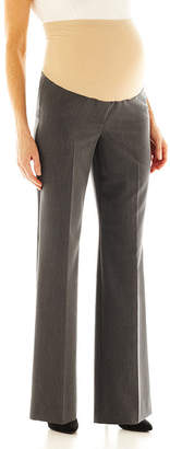 JCPenney DUO MATERNITY duo Maternity Overbelly Wide-Leg Career Pants - Plus