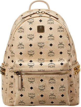 MCM Stark Medium Studded Visetos Backpack