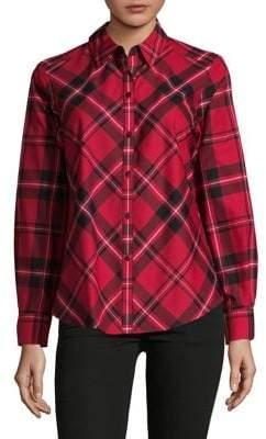 Lord & Taylor Plaid Button-Down Shirt