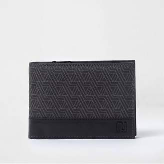 River Island Black geo print fold out wallet
