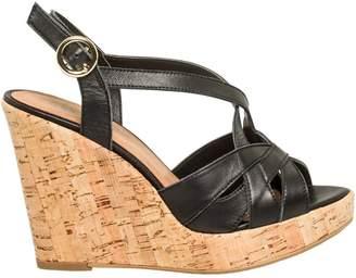 Le Château Women's Leather Cork Wedge Sandal