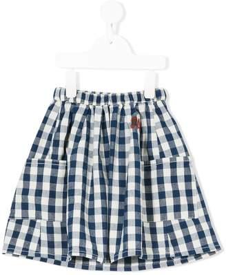 Bobo Choses Jane gingham check skirt