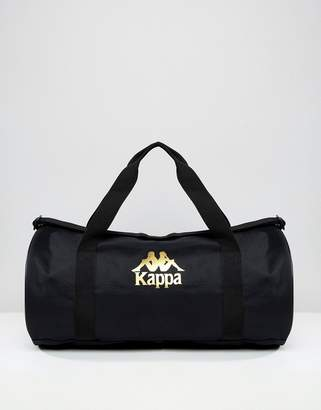 Kappa roll bag with logo taping in black